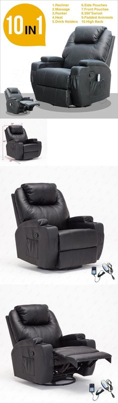 Electric Massage Chairs: Massage Recliner Sofa Chair Ergonomic Lounge  Swivel Heated W Control In Black