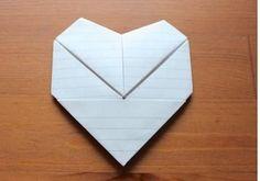 DIY Simple paper heart envelopes