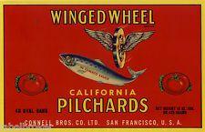 Ocean Fresh Squid Monterey Calif made in USA Vintage Original Label Calamares