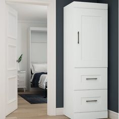 Beachcrest Home Pinellas Armoire | Wayfair White Laminate, Free Standing Closet, Bestar, Drawer Storage Unit, Multifunctional Room, Storage, Storage Unit, Storage Drawers, Closet System