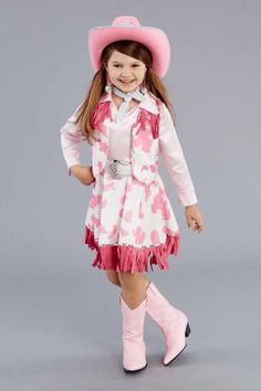 Cowgirl Cutie Costume u2013 Kids Costume$40 | kids costumes for show | Pinterest | Costumes and Cow print  sc 1 st  Pinterest & Cowgirl Cutie Costume u2013 Kids Costume$40 | kids costumes for show ...