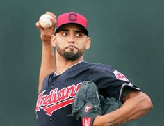 Cleveland Indians Danny Salazar, during his bullpen session, at spring training in Goodyear, Arizona on Feb. (Chuck Crow/The Plain Dealer) Goodyear Arizona, Cleveland Indians Baseball, Indian Springs, Spring Training, Crow, Baseball Cards, Raven, Spring Training Schedule
