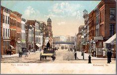 :View East on Main Street, Richmond, Virginia 1900.