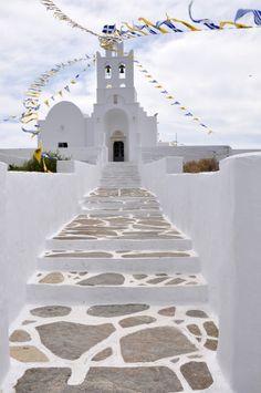 The beatiful monastery of Panayia Chrysopiyi in Sifnos island, Greece