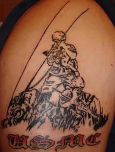 Marine Corps Tattoos: Masculine Marine Coprs Tattoos For Men ~ tattoosartdesigns.com Tattoo Ideas Inspiration