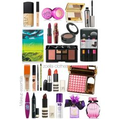 """Zoella makeup essentials"" by zoella-clothes on Polyvore"