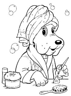 pound puppy coloring page | coloring Pages | Pinterest | Pound puppies