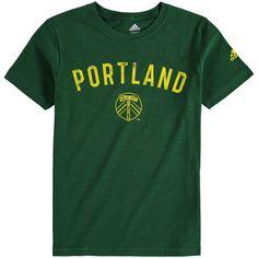 Portland Timbers adidas Youth City Worn Slub T-Shirt - Green Portland Timbers, Portland City, Adidas, Sports, Mens Tops, Youth, T Shirt, Shopping, Green
