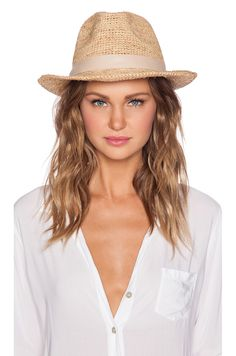 Fedora straw hat trend pair ed with beachy waves - see blond employment.com for more on beach life styling #REVOLVEclothing