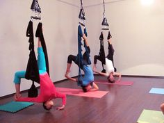 Swing Yoga Aerial Yoga class by Omni-Gym, via Flickr: Looks like fun!