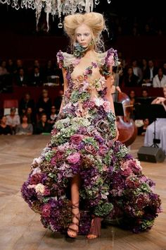 Alexander McQueen - kale and cabbage roses?