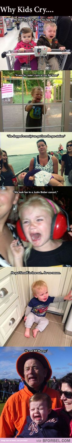 6 Funny Reasons Why Kids Cry… last one awesome!!