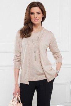 Le gilet laine uni opaline tricoté en laine Cashwool®. Maille de fabrication française.