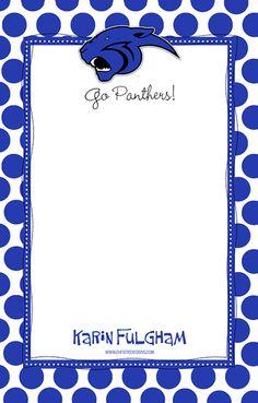 School Spirit  Greenbrier Panther notepad