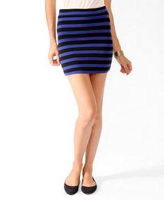 Basic Striped Bodycon Skirt   FOREVER 21 - 2021840554