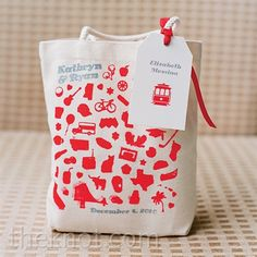 Real Weddings - A Rustic and Retro Wedding in San Francisco, CA - Red Welcome Bag