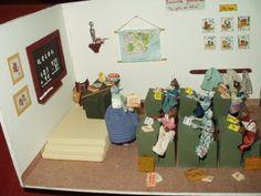Miniaturas de Inés Moreno. Escuela de gatos.