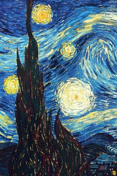 ✨I love Vincent Van Gogh. He's been my favorite artist since I first saw the Starry Starry Night painting in 1st grade art class. He is inspiring and I wish he lived longer to create more amazing pieces. ✨