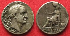 1840 Frankreich - Medaillen M T CICERO / MINERVE French medal style of Roman denarius RRR! # 94020 VF ✓ Coins and Coin Collecting ✓ MA-Shops warranty with certified dealers ✓ Coins, medals and banknotes from ancient to modern. Coin Collecting, French, Personalized Items, Style, France, Swag, French Language, French Resources, Stylus