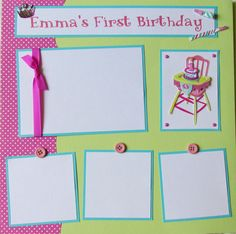 So cute & girly!! Simple but effective and love the colour combo!! Girly scrapbook page ideas