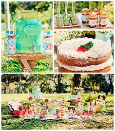 Summer Picnic themed birthday party with So Many Cute Ideas via Kara's Party Ideas | Cake, decor, favors, games, and more! KarasPartyIdeas.com #picnic #picnicparty #partyideas #partyplanning #partydecor #partydesign (2)