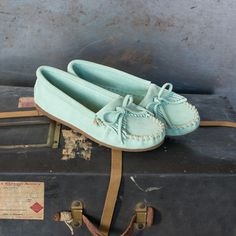 On Trend: Sea Mist Kilty. A limited online exclusive at minnetonkamoccasin.com