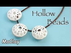 Hollow Beads from Polymer Clay Polymer Clay Kunst, Polymer Clay Canes, Polymer Clay Necklace, Fimo Clay, Polymer Clay Projects, Polymer Clay Beads, Clay Extruder, Clay Earrings, Video Fimo