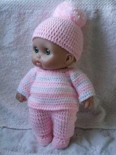 PDF Crochet pattern for Lil Cutesies Berenguer 8 by petitedolls