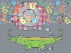Number Eating Alligator Song and other math songs Fun Math, Math Games, Math Activities, Math Math, Math Songs, Kindergarten Songs, Numbers Kindergarten, School Songs, School Videos
