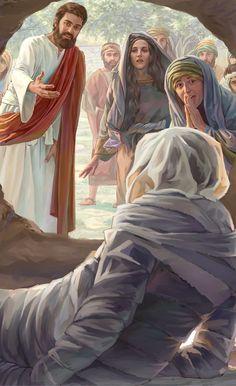 Jesus resurrects Lazarus