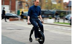 Our intrepid Cycle Guy takes the electric folding Yike Bike for a spin