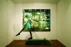 misto de pintura e escultura de:Shintaro Ohata que capta pequenos detalhes e os transforma em um quê de filme ou sonho...lindo!!!