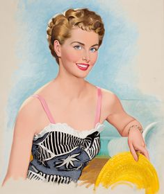 """Illustration by Lou Shabner, via liveinternet.ru """"Pin-Up and Bobby Vinton"""" Pinup Art, Vintage Art, Vintage Ladies, Vintage Paintings, Vintage Beauty, Pin Up Pictures, New Look Fashion, She's A Lady, Flirting Tips For Girls"""