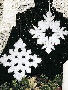 Snowflake Duo Ornaments Quilt Pattern Download from e-PatternsCentral.com -- Hang these pretty snowflake ornaments in a window or on your tree. They make great projects to get children involved in quilting.