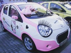 Hello Kitty Car, Sanrio, Corner, Kawaii, Kawaii Cute, Kauai