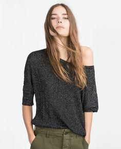 BOAT NECK SWEATER | ZARA saved by #ShoppingIS