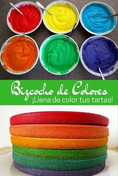Cómo hacer bizcochos de colores