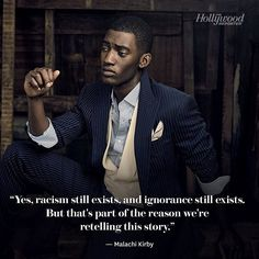 """Will you tune in to the #Roots remake? Malachi Kirby who stars as Kunta Kinte in the upcoming series wants the show to """"bring about a very healthy conversation. And I hope that that conversation leads to action because as far as we've come there's quite a way to go."""" Photo: @millermobley by hollywoodreporter"""