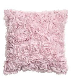 Check this out! Satin cushion cover with decorative chiffon flowers and concealed zip. Size 16 x 16 in. - Visit hm.com to see more.