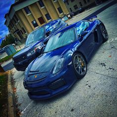 Porsche Cayman GT4 painted in Dark Blue Metallic  Photo taken by: @coblitz on Instagram