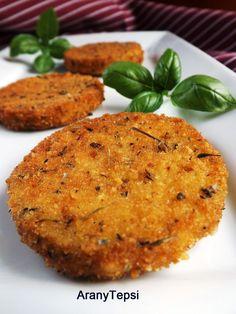 AranyTepsi: Zöldfűszeres rántott cukkini Salmon Burgers, Paleo, Dishes, Breakfast, Ethnic Recipes, Food, Plate, Utensils, Hoods