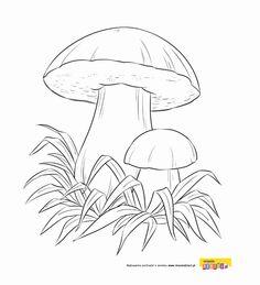 Jesień - kolorowanki dla dzieci Kids And Parenting, Pencil Drawings, Coloring Pages, Rooster, Stuffed Mushrooms, Animals, Image, Template, Patterns
