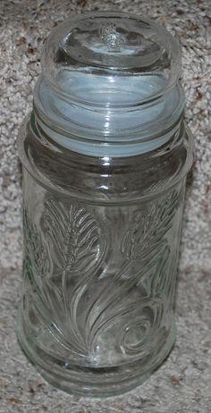 """$15.00Mr. Peanut Planters Nuts Decorative Glass Jar & Lid Storage Peanuts Candy 8.5"""" T"""