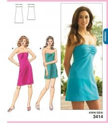 Kwik Sew K3414 - Misses' Dresses (Strapless) | Sew L.A. Fabric; seems OOP but may be available at Sew L.A. Fabric or Pattern Review 16-Jun 2013