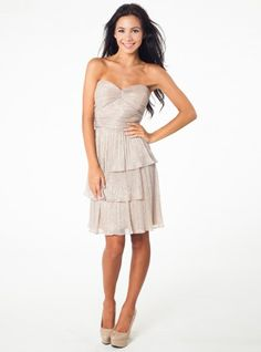 Rebecca Knit Cocktail Dress in GoldSilver from Max & Cleo by BCBG. Only $156.00 with Free Shipping & Free Returns!