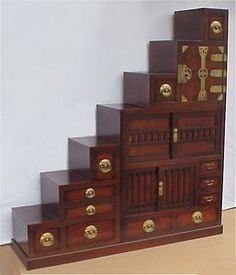 Kaidan Dansu, the traditional Japanese step-chest. These storage ...