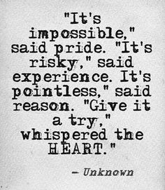 """It's impossible"", said pride.."