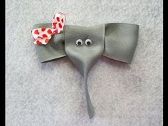 How to make an ELEPHANT ribbon hair clip-made one last night and it turned out soo good and was really easy!!