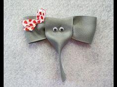 ▶ How to make an ELEPHANT ribbon hair clip - YouTube