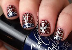 """eeee so cute (i wish this was of toes so i could caption it """"peter parker pedicure"""")"""